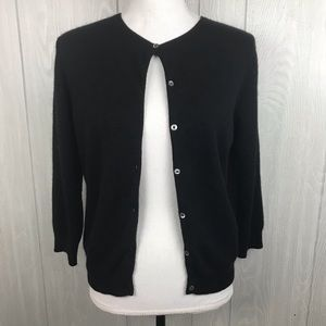 Lauren Ralph Lauren cashmere button front cardigan